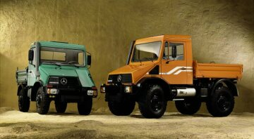 Mercedes-Benz Unimog models U 90, U 110 and U 140 from 1992.