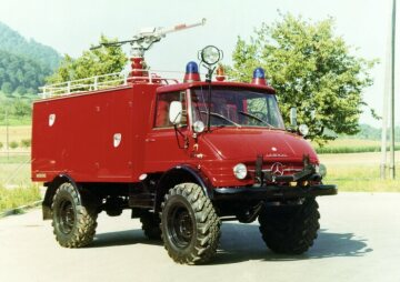 Unimog, model series 416 dry agent tender TroLF 1000 with Minimax body for the airport in Essen/Mülheim