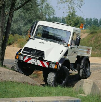 Unimog U140, model series 418 on the Ötigheim testing grounds