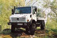Unimog of model series 437.4 presented at the IAA International Motor Show 2002 in Hanover and comprising the models U3000, U4000 and U5000