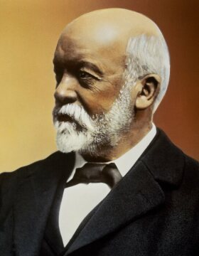 Gottlieb Daimler, by the year 1890 (coloured).