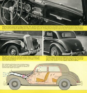 Mercedes-Benz 220 Limousine brochure of 1951