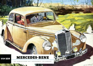 Mercedes-Benz 220 in1951 Drawing by Walter Gotschke