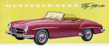Mercedes-Benz 190 SL Roadster W 121 series Drawing from a brochure 1956